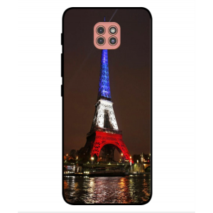 Coque De Protection Tour Eiffel Couleurs France Pour Motorola Moto G9 Play