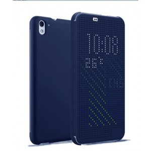 Protection Etui Flip Folio Dot View Bleu Pour HTC Desire 826