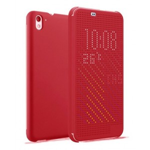 Protection Etui Flip Folio Dot View Rouge Pour HTC Desire 826
