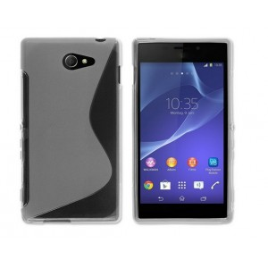 Coque De Protection En Silicone Transparent Pour Sony Xperia M2
