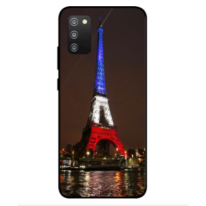 Coque De Protection Tour Eiffel Couleurs France Pour Samsung Galaxy F02s