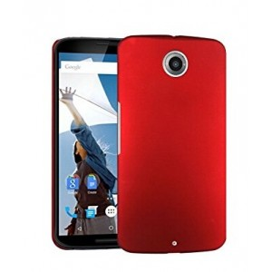 Coque De Protection Rigide Rouge Pour Motorola Nexus 6
