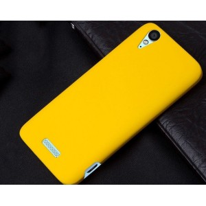 Coque De Protection Rigide Jaune Pour ZTE Grand S Flex