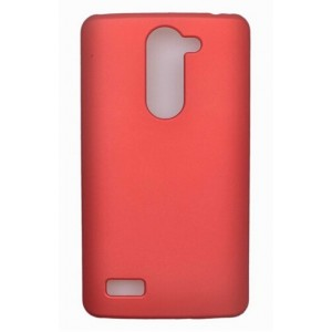 Coque De Protection Rigide Rouge Pour LG L Bello