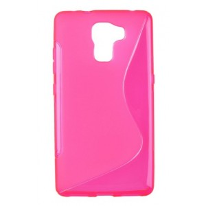 Coque De Protection En Silicone Rose Pour Huawei Honor 7