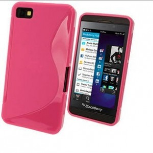 Coque De Protection En Silicone Rose Pour BlackBerry Z30