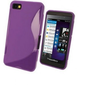 Coque De Protection En Silicone Violet Pour BlackBerry Z30