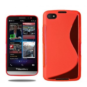 Coque De Protection En Silicone Rouge Pour BlackBerry Z30