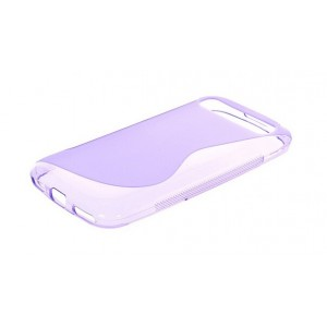 Coque De Protection En Silicone Violet Pour BlackBerry Classic