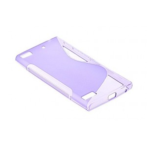 Coque De Protection En Silicone Violet Pour BlackBerry Z3