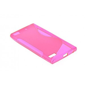 Coque De Protection En Silicone Rose Pour BlackBerry Z3