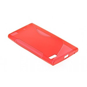 Coque De Protection En Silicone Rouge Pour BlackBerry Z3