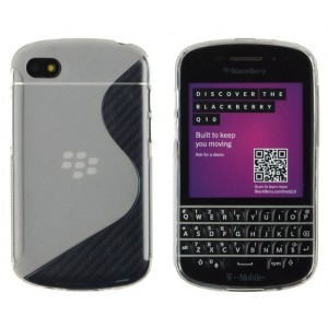 Coque De Protection En Silicone Transparent Pour BlackBerry Q10