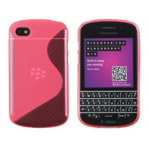 Coque De Protection En Silicone Rose Pour BlackBerry Q10