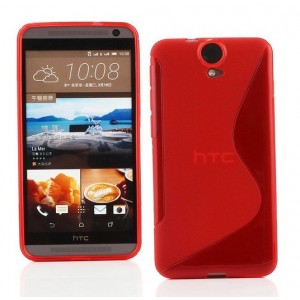 Coque De Protection En Silicone Rouge Pour HTC One E9+
