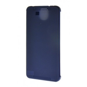 Protection Etui Flip Folio Dot View Bleu Pour HTC One E9+