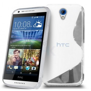 Coque De Protection En Silicone Transparent Pour HTC Desire 620