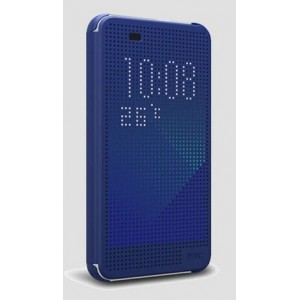 Protection Etui Flip Folio Dot View Bleu Pour HTC Desire 626