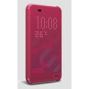 Protection Etui Flip Folio Dot View Rose Pour HTC Desire 626