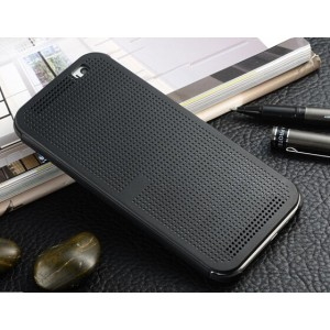 Protection Etui Flip Folio Dot View Noir Pour HTC Desire 626