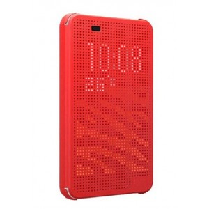Protection Etui Flip Folio Dot View Rouge Pour HTC Desire Eye