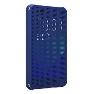 Protection Etui Flip Folio Dot View Bleu Pour HTC Desire Eye