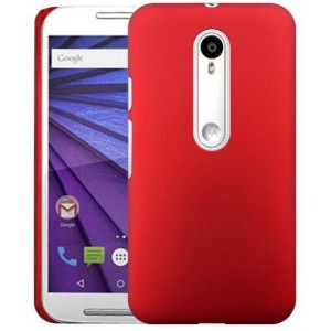 Coque De Protection Rigide Rouge Pour Motorola X Play
