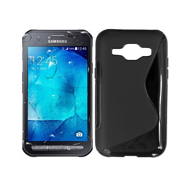coque protection silicone noir samsung galaxy xcover 3. Black Bedroom Furniture Sets. Home Design Ideas