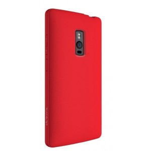 Coque De Protection Rigide Rouge Pour OnePlus Two