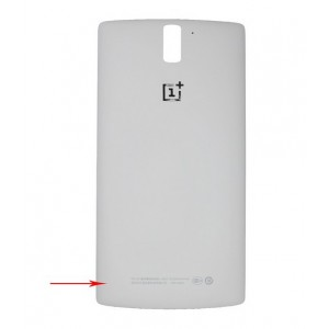 Cache Batterie Pour OnePlus One - Blanc