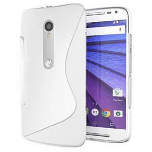 Coque De Protection En Silicone Transparent Pour Motorola X Pure Edition