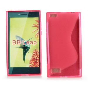 Coque De Protection En Silicone Rose Pour BlackBerry Leap