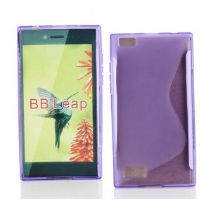 Coque De Protection En Silicone Violet Pour BlackBerry Leap