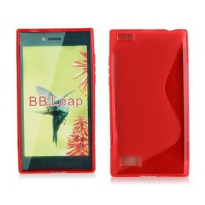 Coque De Protection En Silicone Rouge Pour BlackBerry Leap