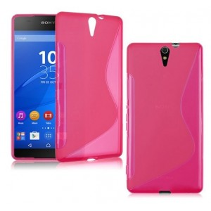 Coque De Protection En Silicone Rose Pour Sony Xperia C5 Ultra