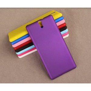 Coque De Protection Rigide Violet Pour Sony Xperia C5 Ultra
