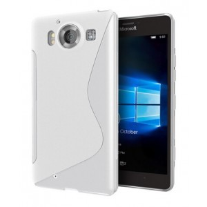 Coque De Protection En Silicone Transparent Pour Microsoft Lumia 950