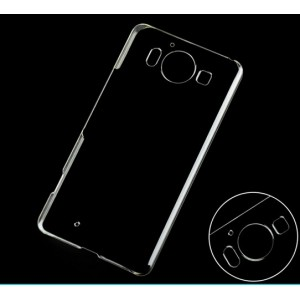 Coque De Protection Rigide Transparent Pour Microsoft Lumia 950