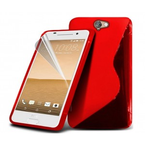 Coque De Protection En Silicone Rouge Pour HTC One A9