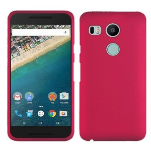 Coque De Protection Rigide Rose Pour Nexus 5X