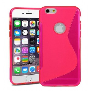 Coque De Protection En Silicone Rose Pour iPhone 6s Plus