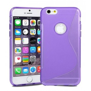 Coque De Protection En Silicone Violet Pour iPhone 6s Plus