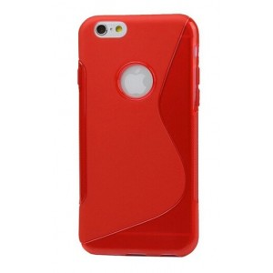 Coque De Protection En Silicone Rouge Pour iPhone 6s Plus