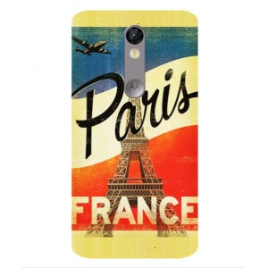 Coque De Protection Paris Vintage Pour Motorola Moto X Force