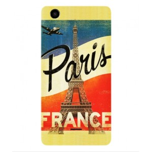 Coque De Protection Paris Vintage Pour Wiko Rainbow Lite