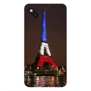 Coque De Protection Tour Eiffel Couleurs France Pour Wiko Sunset 2