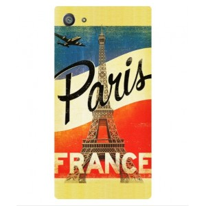 Coque De Protection Paris Vintage Pour Sony Xperia Z5 Compact