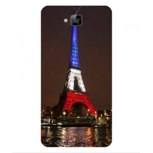 Coque De Protection Tour Eiffel Couleurs France Pour Huawei Enjoy 5