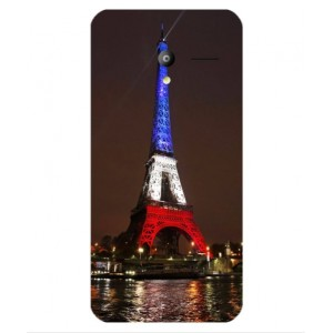 Coque De Protection Tour Eiffel Couleurs France Pour Vodafone Smart Speed 6