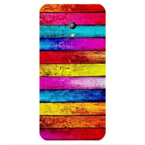Coque De Protection Bois Arc-En-Ciel Pour Vodafone Smart Speed 6